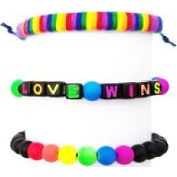 Multi-Pack Rainbow Love Wins Bracelets - 3 Pack by Spencer's