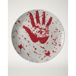 Blood Ceramic Platter by Spencer's