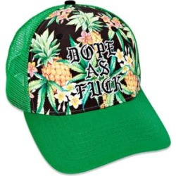 4689f996e9b6c Dope As Fuck Floral Trucker Hat by Spencer s found on MODAPINS from spencers  gifts for USD