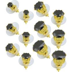 Circle Black CZ Stud Earrings 6 Pair - 20 Gauge by Spencer's