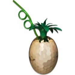 Disco Pineapple Cup with Straw by Spencer's