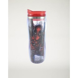Deadpool Curved Travel Mug 16 oz. - Marvel Comics by Spencer's found on Bargain Bro India from spencers gifts for $7.99