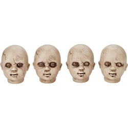 Doll Heads - 4 Pack by Spirit Halloween found on Bargain Bro India from SpiritHalloween.com for $9.99