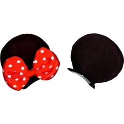 Minnie Mouse Ears Hair Clips - Disney by Spirit Halloween found on Bargain Bro India from SpiritHalloween.com for $6.99