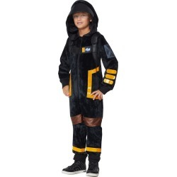 Fortnite Boys Plush Dark Voyager Onesie Costume - Kids Fortnite Costumes by Spirit Halloween