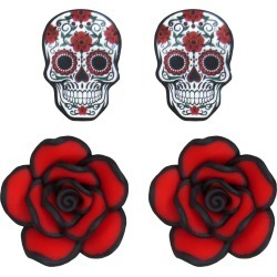 Day of the Dead Earrings 2 Pack by Spirit Halloween