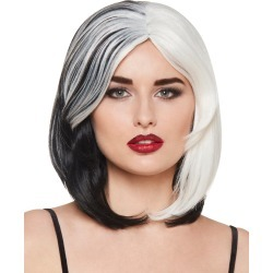 Black and White Wig by Spirit Halloween