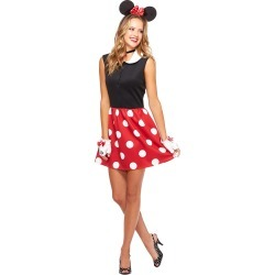 Adult Minnie Mouse Dress Costume - Disney by Spirit Halloween found on Bargain Bro India from SpiritHalloween.com for $34.99