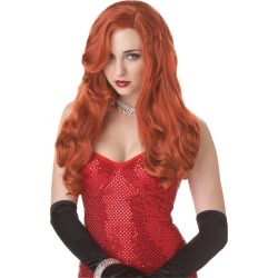 Red Silver Screen Sensation Wig by Spirit Halloween