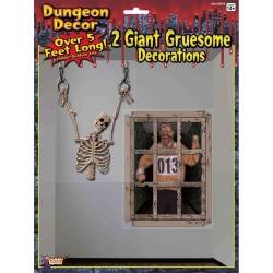 Dungeon Shackled Skeleton Decoration by Spirit Halloween