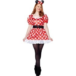 Adult Red Minnie Mouse Costume - Disney by Spirit Halloween found on Bargain Bro India from SpiritHalloween.com for $39.99