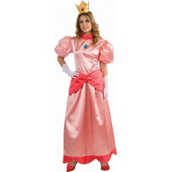 Mario Bros. Princess Peach Deluxe Adult Womens Costume by Spirit Halloween