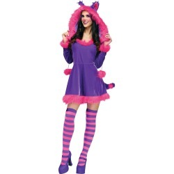 Adult Furry Cheshire Cat Costume by Spirit Halloween found on Bargain Bro India from SpiritHalloween.com for $49.99