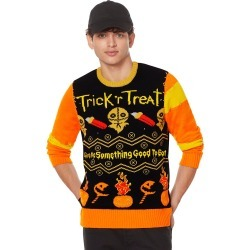Light-Up Trick 'r Treat Ugly Christmas Sweater by Spirit Halloween found on Bargain Bro India from SpiritHalloween.com for $59.99