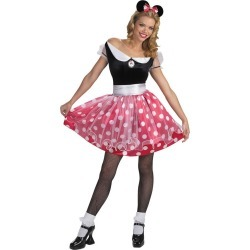 Adult Minnie Mouse Costume Deluxe - Disney by Spirit Halloween found on Bargain Bro India from SpiritHalloween.com for $44.99