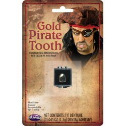 Gold-Tone Pirate Tooth by Spirit Halloween