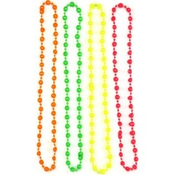 4pk Neon Beads by Spirit Halloween