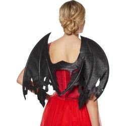 Black Glitter Devil Wings by Spirit Halloween found on Bargain Bro from SpiritHalloween.com for USD $12.91