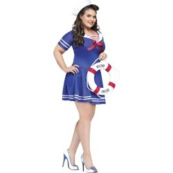 Anchors Away Adult Plus Size Womens Costume by Spirit Halloween