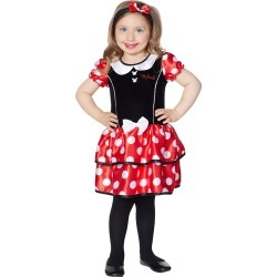 Toddler Minnie Mouse Dress - Disney by Spirit Halloween found on Bargain Bro India from SpiritHalloween.com for $24.99