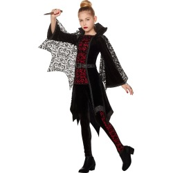 Kid's Gothic Vampiress Costume by Spirit Halloween found on Bargain Bro India from SpiritHalloween.com for $39.99
