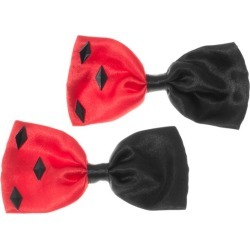 Black and Red Diamond Hair Bows by Spirit Halloween