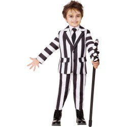 Toddler Beetlejuice Striped Suit by Spirit Halloween found on Bargain Bro from SpiritHalloween.com for USD $26.59