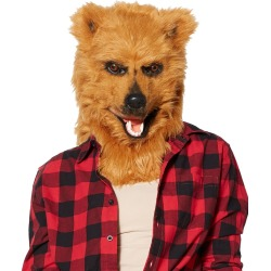 Brown Bear Moving Mouth Full Mask by Spirit Halloween