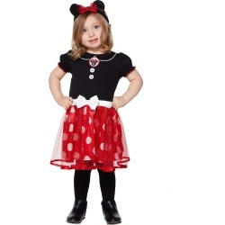 Toddler Minnie Mouse Dress Costume - Disney by Spirit Halloween found on Bargain Bro India from SpiritHalloween.com for $24.99