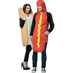 Hot Dog and Bun Couples Costume by Spirit Halloween
