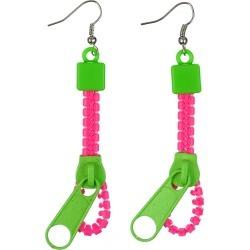 Neon Zipper Earrings by Spirit Halloween found on Bargain Bro from SpiritHalloween.com for USD $3.79