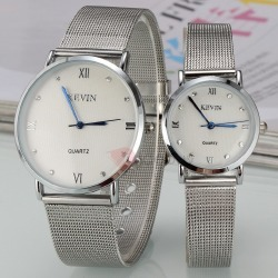 Roman Numerals Decorated Lovers Watches ( Price for a Pair )