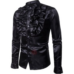 Tidebuy Plain Chest Pleated Mens Dress Shirt found on MODAPINS from TideBuy International for USD $35.00