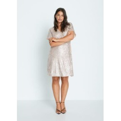 Sequin wrap dress found on MODAPINS from MANGO for USD $100.18
