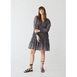 Lurex floral dress found on MODAPINS from MANGO for USD $70.66