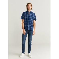 Regular-fit checked shirt found on Bargain Bro UK from MANGO