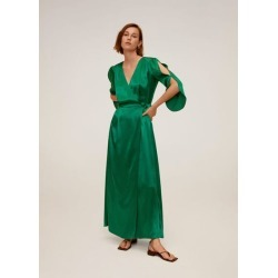 Cotton wrap dress found on MODAPINS from MANGO for USD $75.14