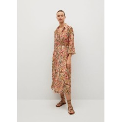 Belt floral dress found on MODAPINS from MANGO for USD $84.80