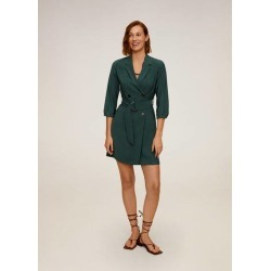 Buttoned wrap dress found on MODAPINS from MANGO for USD $25.04