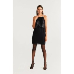 Sequin appliqué gown found on Bargain Bro UK from MANGO