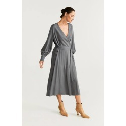 Belt wrap dress found on MODAPINS from MANGO for USD $37.56