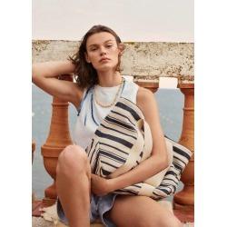 Cotton fabric shopper bag found on Bargain Bro UK from MANGO
