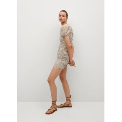 Ruched floral dress found on MODAPINS from MANGO for USD $42.39