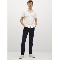 Slim-fit short-sleeve shirt found on Bargain Bro UK from MANGO