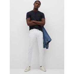 Slim fit white Jan jeans found on Bargain Bro UK from MANGO