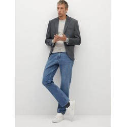 Slim fit cotton blazer found on Bargain Bro UK from MANGO