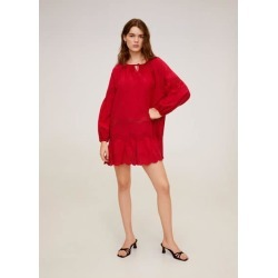 Open-work ruffled dress found on MODAPINS from MANGO for USD $45.81