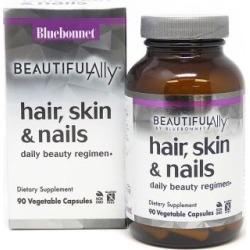 Beautiful Ally Hair - Skin & Nails 90 Veg Caps by Bluebonnet Nutrition