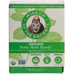Organic Yerba Mate Royale 16 Bags by Wisdom Natural