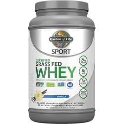 Sport Certified Grass Fed Whey Protein Vanilla 23 Oz by Garden of Life